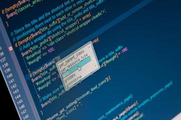 Program code in some editor