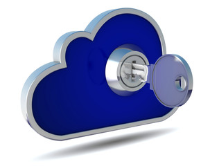 cloud mit Schlüssel