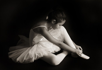 Small ballet dancer