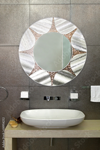 Sparkling bathroom wall