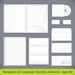 Templates set of corporate identity. vector illustration (eps10)
