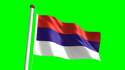 Serbia flag (Loop & green screen)