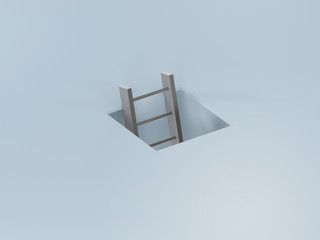 ladder in a hole