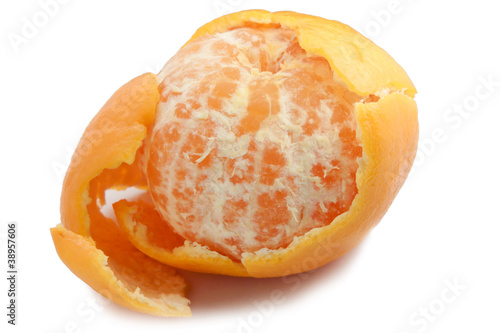 Partially peeled mandarin