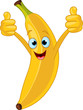 Cheerful Cartoon banana character