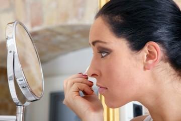 beautiful woman and make-up