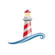 Logo lighthouse on white background # Vector