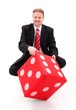 Businessman with dice
