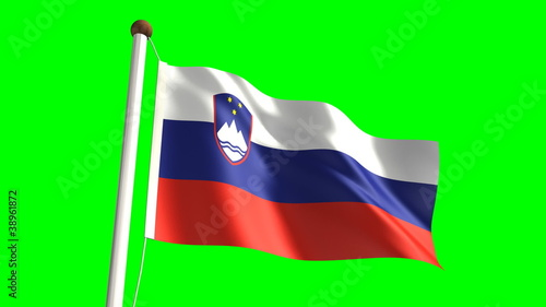 Slovenia flag (with green screen)