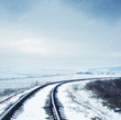 railroad in snow