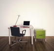 modern interior office table and chairs