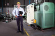 full length portrait of a factory manager