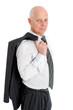 Geschäftsmann mit Sakko über der Schulter