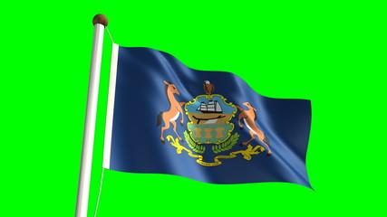 Pennsylvania flag (with green screen)
