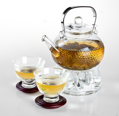 glass teapot Chinese tea