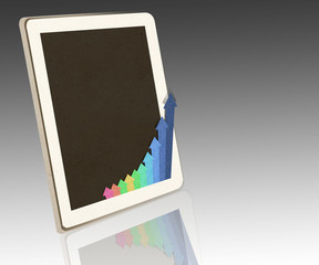 tablet PC with business concept .