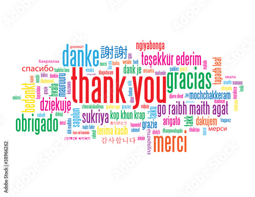 THANK YOU Tag Cloud (card smile greetings translation languages)