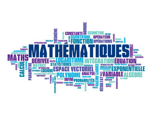 "Nuage de Tags ""MATHEMATIQUES"" (maths formule équations sciences)"