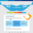 web design vector blue arrow template