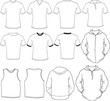 male shirts template