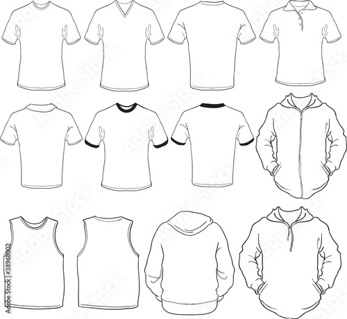 male shirts template