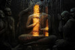 canvas print picture - Buddhist mural