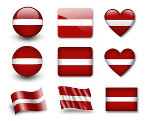The Latvian flag