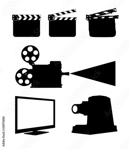 Cinema Icon Set on white