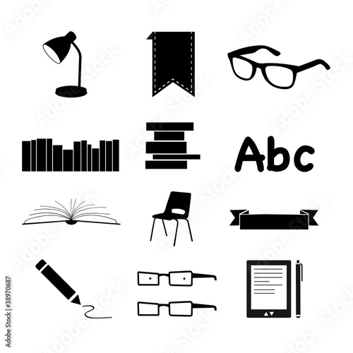 Books and Reading icons set