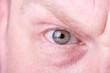 Aggressiver männlicher Blick