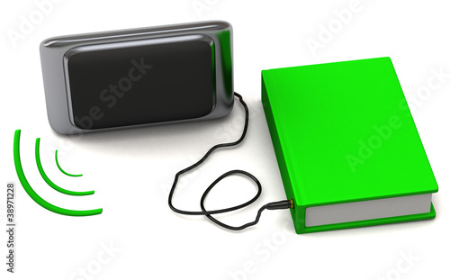 Audio book concept - 3d abstract image