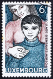 Postage stamp Luxembourg 1968 Orphan and Foster Mother poster