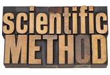 scientific method in wood type poster