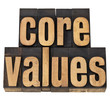 core values - ethics concept