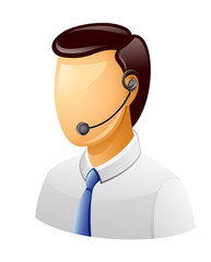 Man Customer support icon