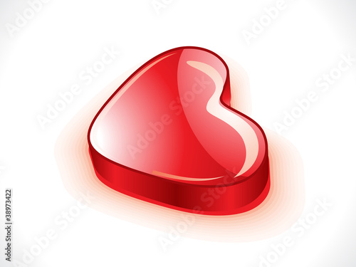 abstract glossy 3d heart