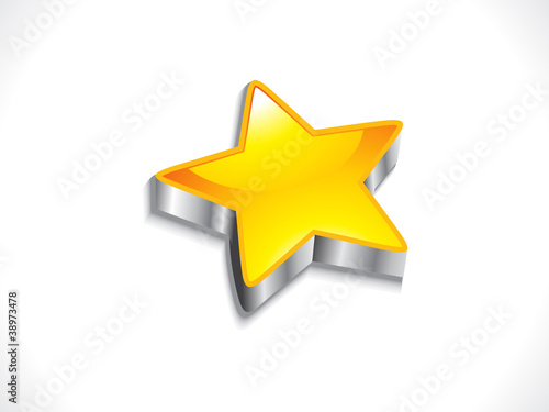 abstract glossy 3d star with metal effect