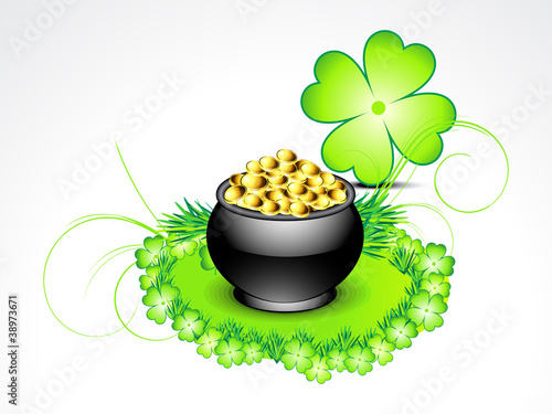 abstract st patricks background with clover