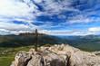 Rolle pass from Castellazzo mount, Italian Dolomites