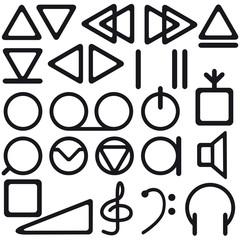 Tape recorder symbols