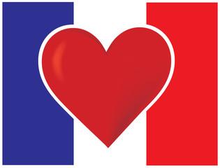 Heart France Flag