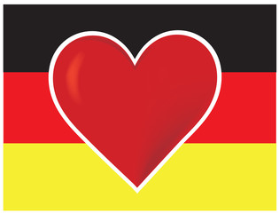 Heart Germany Flag