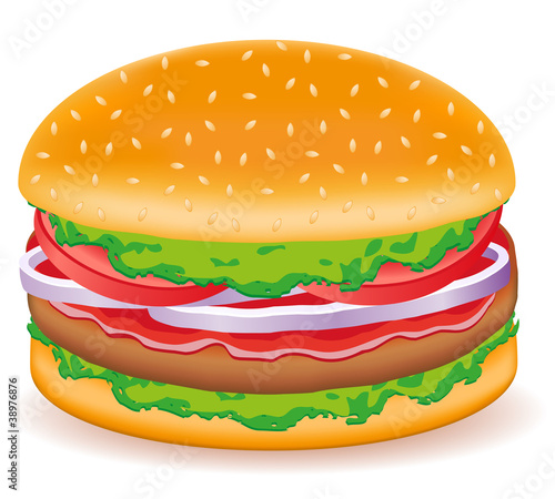 hamburgers vector illustration