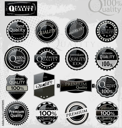 Set of elegant premium quality labels