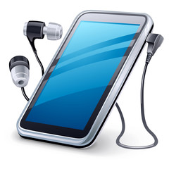 Personal media player and headphones