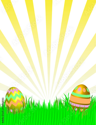 Easter Egg Setting. Vector eps8 / Clip Art