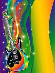 Chitarra Elettrica Sfondo Pop-Abstract Electric Guitar Poster