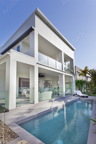 Modern house with swimming pool