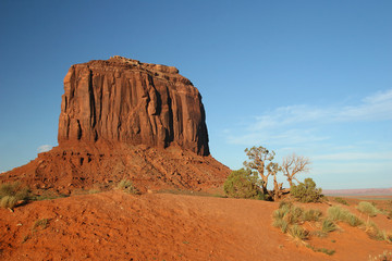 Red Sandstone Rock Butte - Monument Valley, Arizona