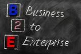 Acronym of B2E - Business to enterprise poster